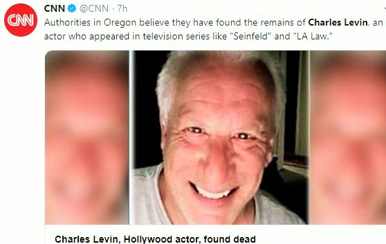 Charles levin remain found  as per CNN report