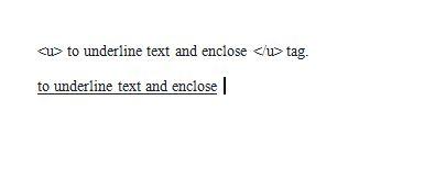 underline tag html