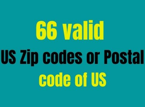 66 valid US Zip codes or Postal code of US
