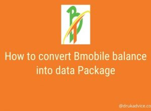 How to convert Bmobile balance into data Package