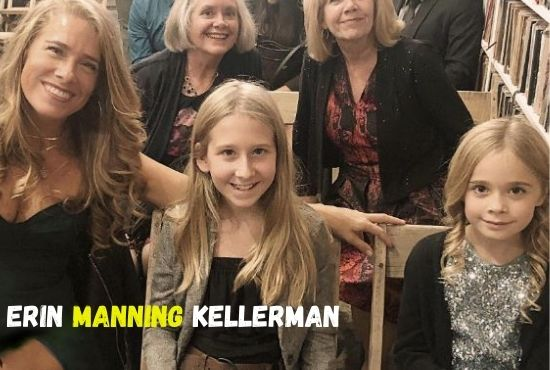 Beautiful photo of Erin Manning Kellerman with her three daughter