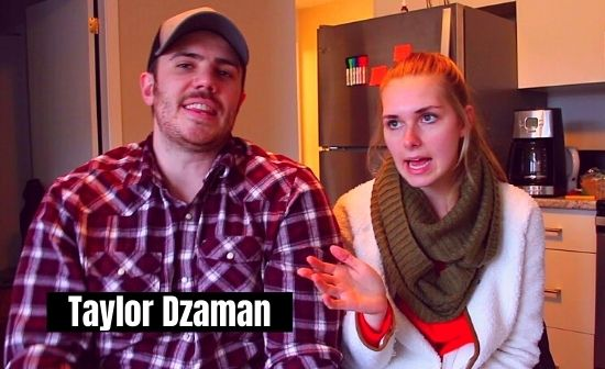 taylor dzaman with his girlfriend rebecca