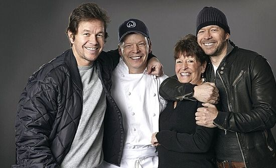 Buddy Wahlberg with his mother and two brother