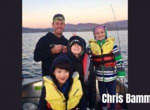 Chris Bamman along with his three children fishing tour