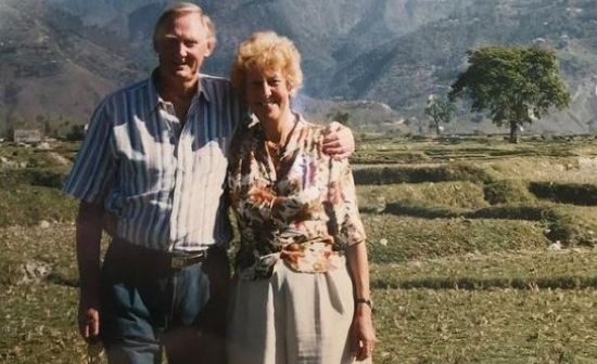 Cute photo of Wills Whereabouts grandparents traveling Nepal back in 1998