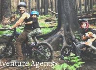 Adventure Agents with agent Axe in their favorite dirt bike exploring forest
