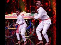Prithviraj Kongari with his guru Subranil sir Dancing in super dancer 4 stage