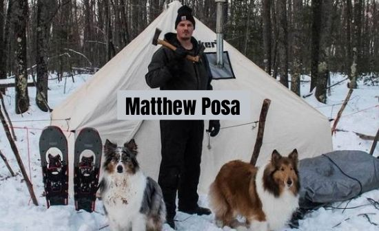 Matthew Posa build hot tent for his dog in -7 degree Celsius climate
